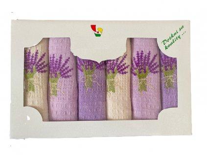 Set vaflových utěrek Levandule v dárkovém balení
