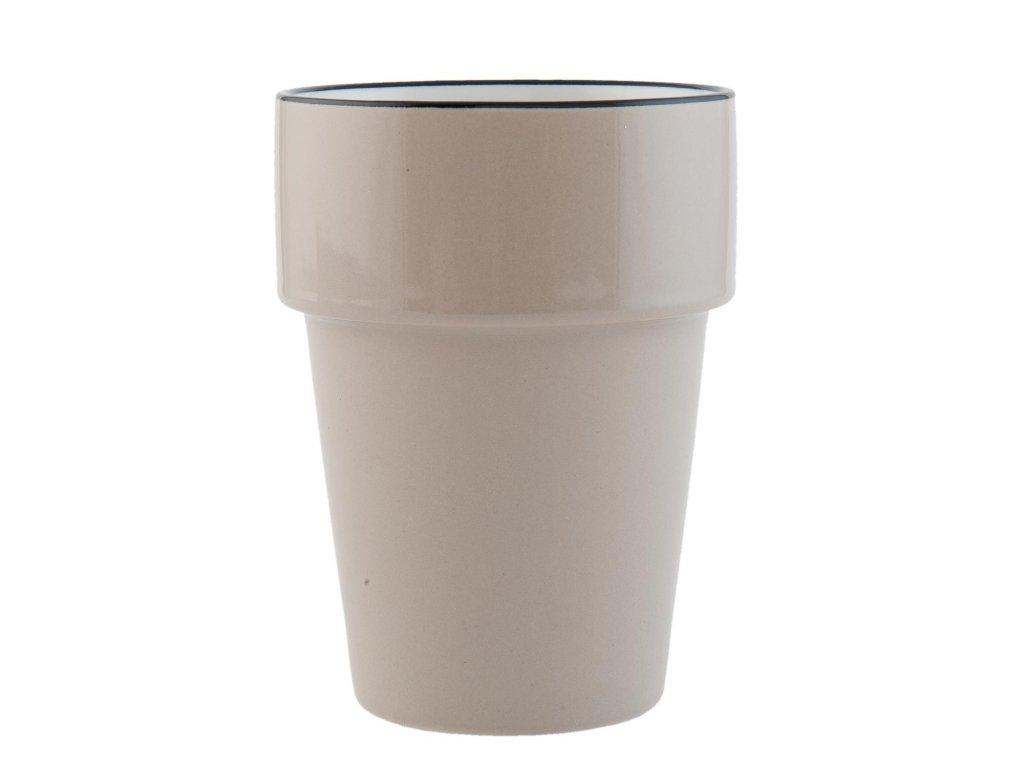 Kalíšek na čaj nebo kávu Enamel look - Ø 8*11 cm / 0,25L