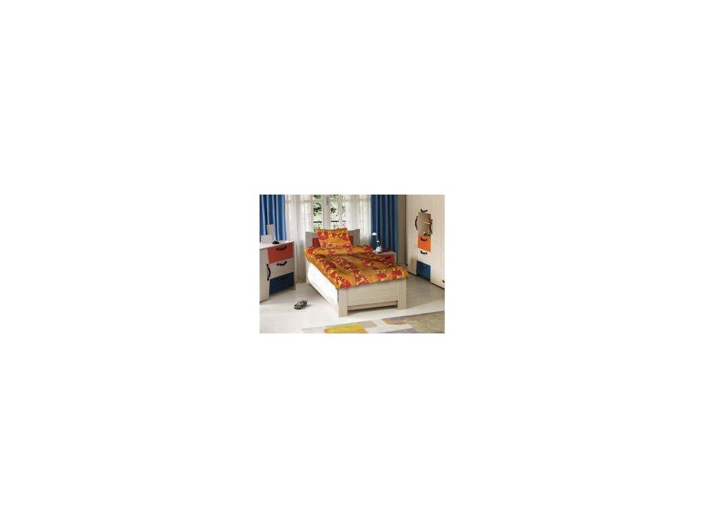 bavlnene detske povleceni zirafy oranzove 0
