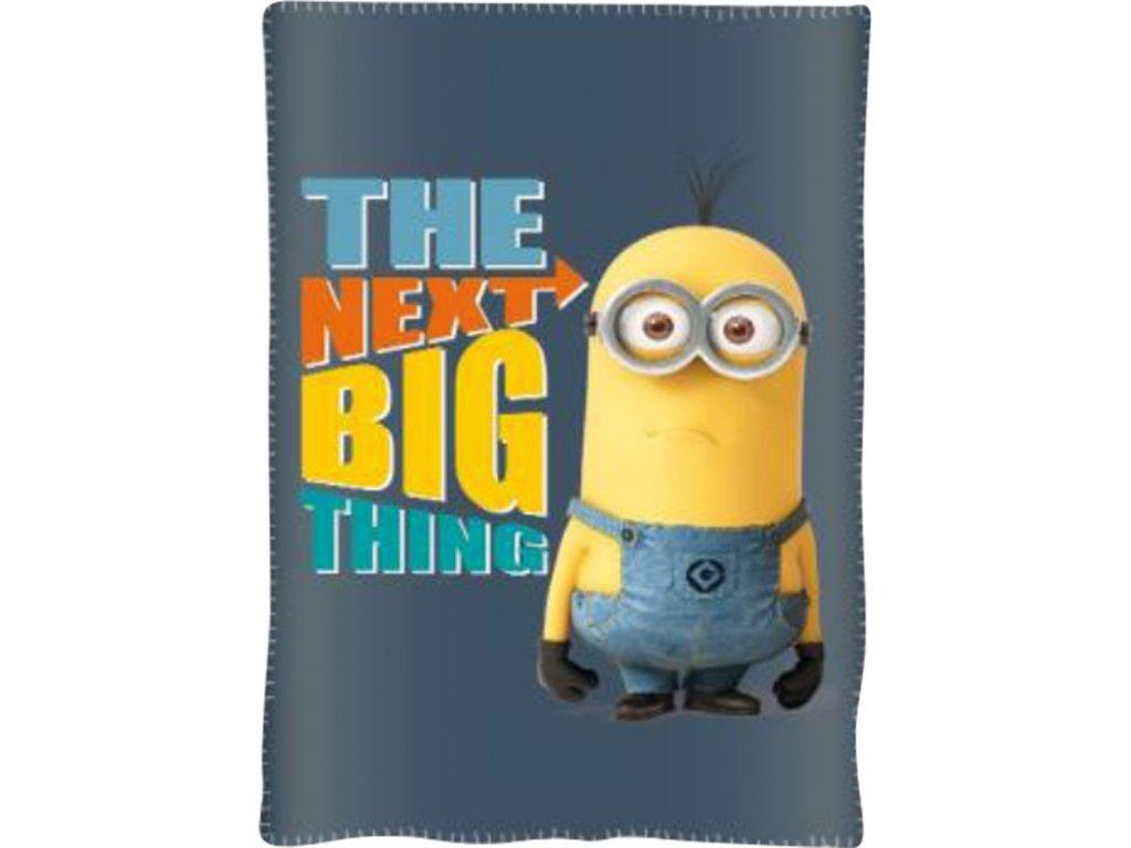Fleece deka Mimoni šedá 100x150cm