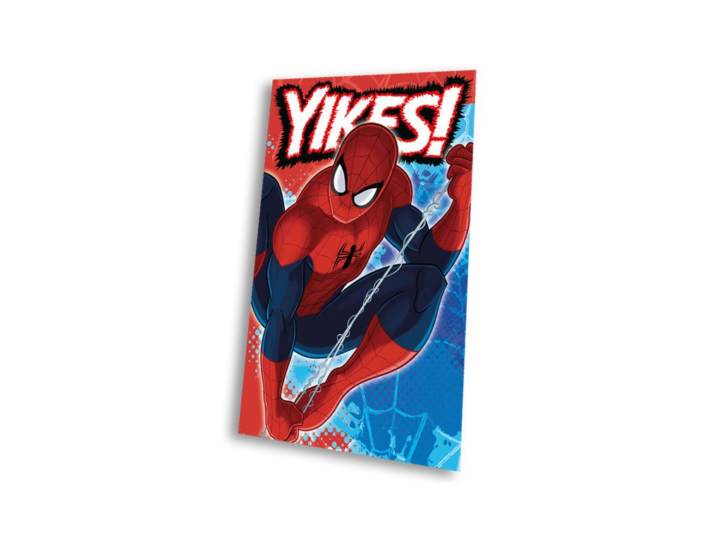 Fleece deka Spiderman blue 100x150cm
