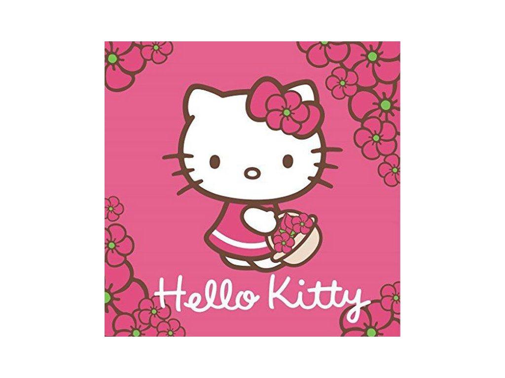 Magický ručníček Hello Kitty 30x30cm