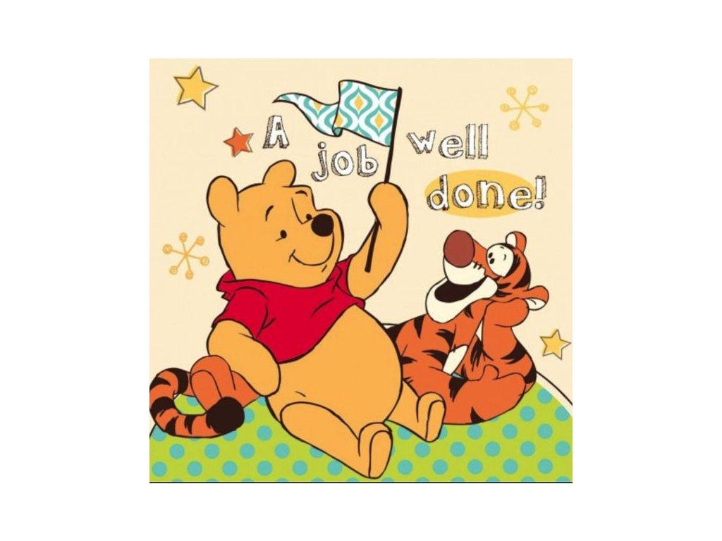 Magický ručníček Medvídek Pů žlutý 30x30cm