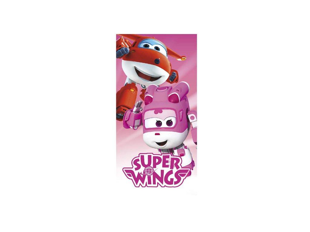 Osuška Super Wings pink 70x140cm