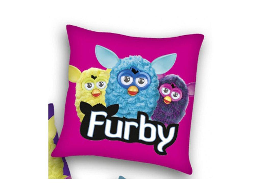 Polštářek Furby růžový 40x40