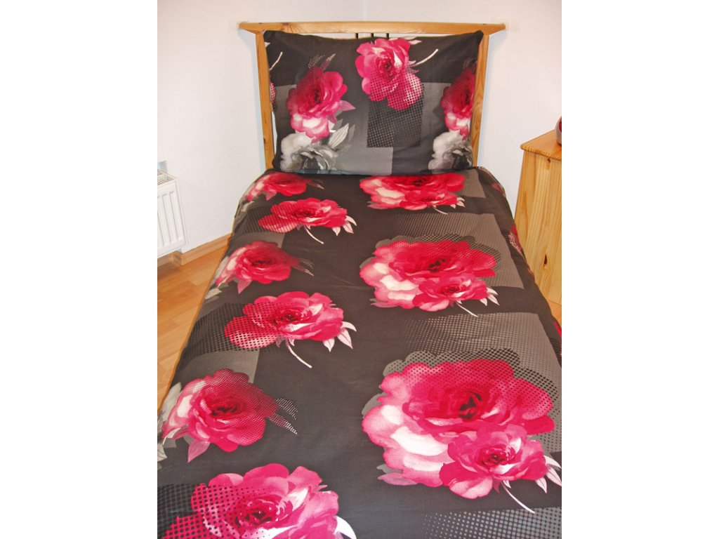 Povlečení bavlněný satén Royal pink 140/200, 70/90