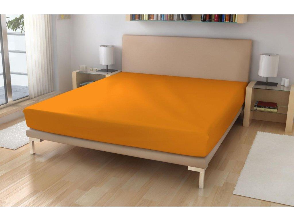 Jersey prostěradlo EXKLUSIVE Světle oranžová 90/200