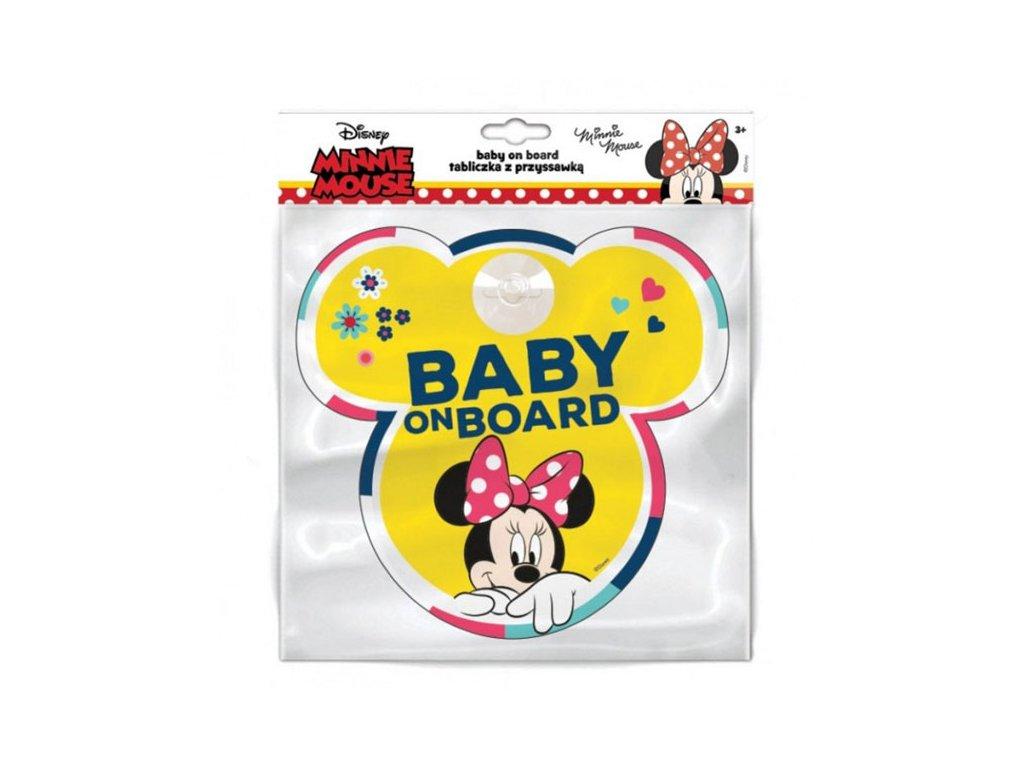 Cedulka s přísavkou Dítě v autě Minnie Mouse