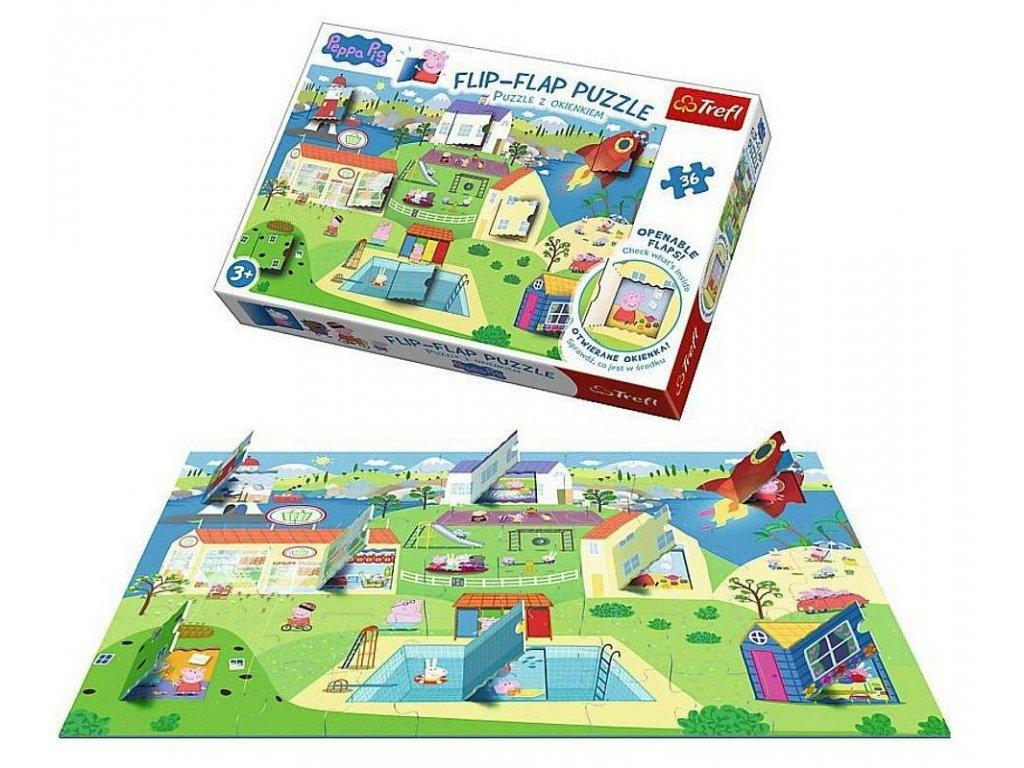 Okénkové puzzle Prasátko Peppa