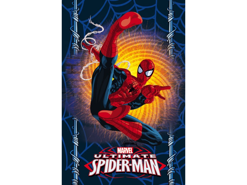 Fleece deka Spiderman 100/150