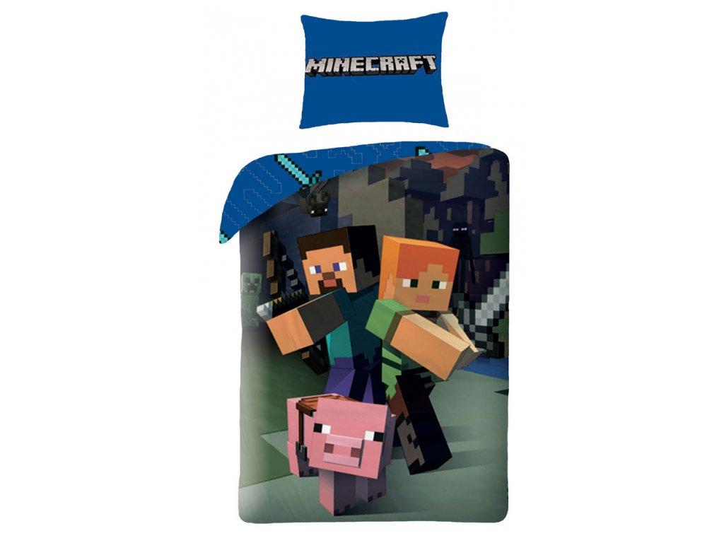 Povlečení Minecraft 140x200, 70x90 cm