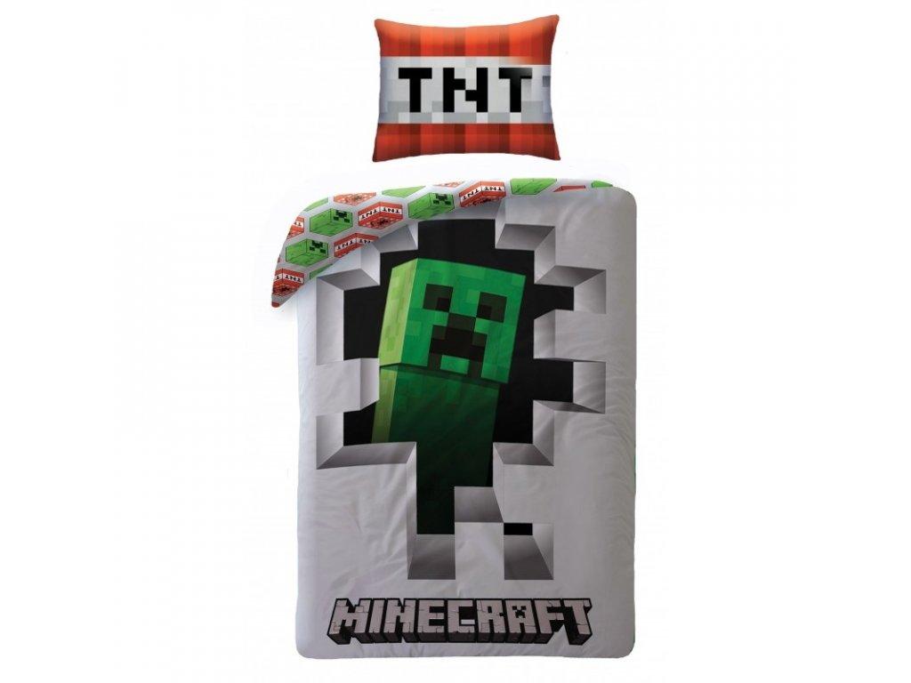 Povlečení Minecraft Dynamit 140x200, 70x90 cm