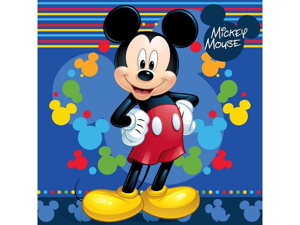 Povlak na polštářek Mickey blue micro 40x40 cm