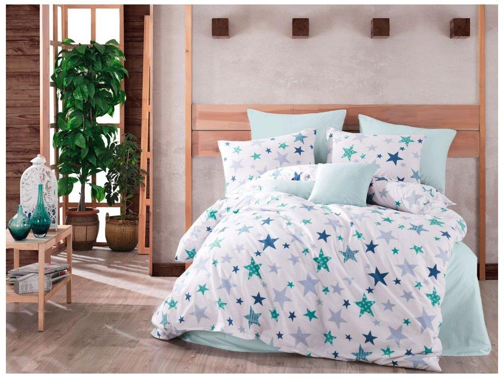 bavlnene povleceni hvezdy modre 0