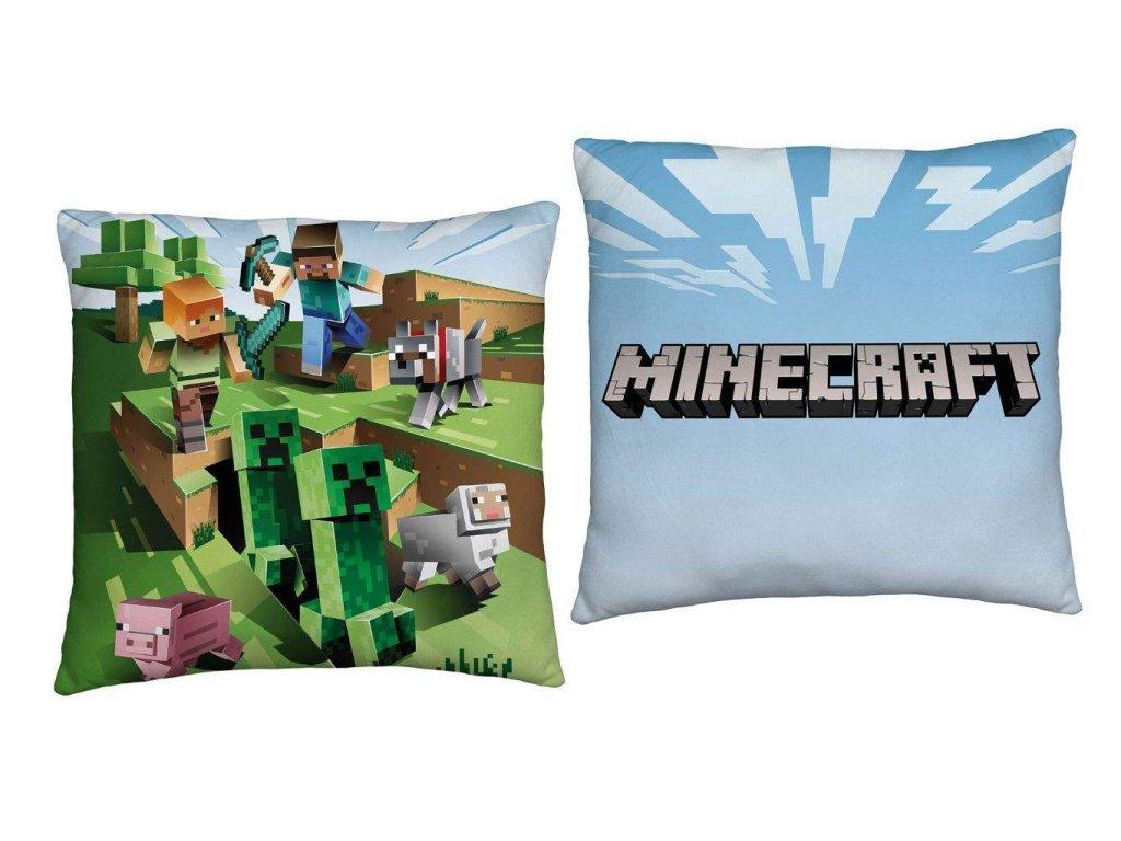 Polštářek Minecraft Farma, 40x40 cm