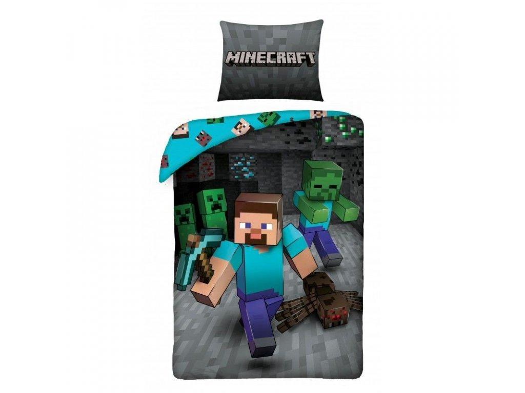 Povlečení Minecraft Steve, 140x200, 70x90 cm