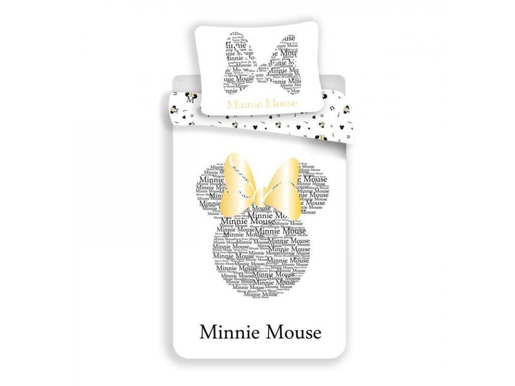 Povlečení Minnie Gold  Bavlna, 140x200, 70x90 cm