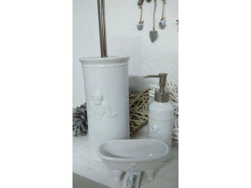 Kartáč na toaletu s dekorem Anděla - pr.11*24 cm Clayre eef