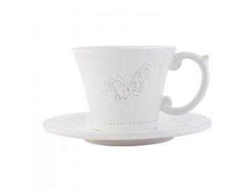 Šálek s podšálkem Tableware butterfly pr.15*8 cm / 0,2L