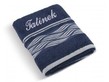 Froté ručník proužek se jménem TATÍNEK