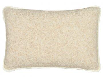 Evropské meríno polštář bílý/béžový