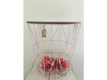 Odkládací stolek ve tvaru koše  -Ø 40*41 cm