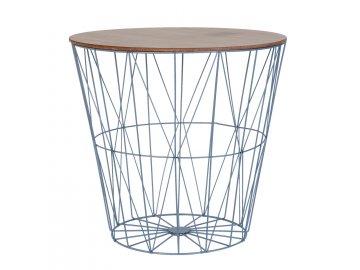 Odkládací stolek ve tvaru koše  - Ø 53*50 cm