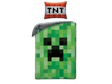 Povlečení Minecraft Creeper Face 140x200,70x90