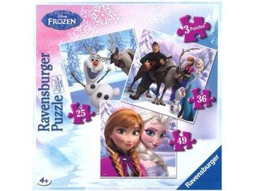 Puzzle Ledové Království 3v1 RAV