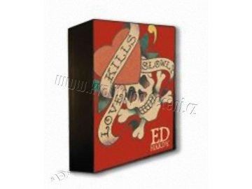 Lampička Ed Hardy Lebka červená