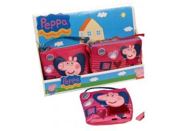 Kabelka a peněženka Peppa Pig Srdce