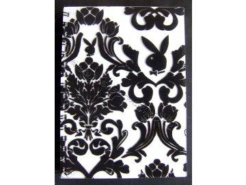 Zápisník Playboy Black and White A5