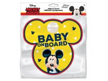 Cedulka s přísavkou Dítě v autě Mickey Mouse