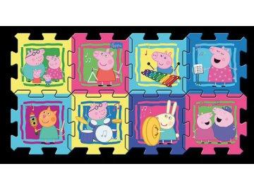 Pěnové puzzle Prasátko Peppa 8ks 30x30 cm