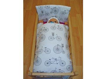 Peřinky do postýlky pro panenky Bicycle