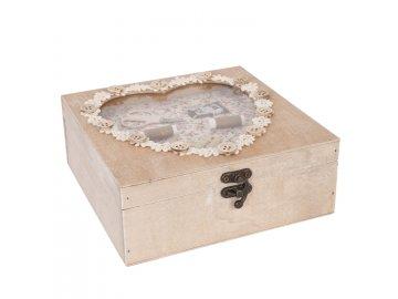 Box na šicí potřeby VINTAGE  - 20*20*7,5 cm