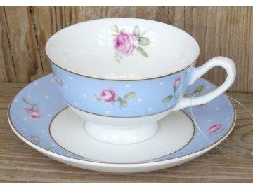 Clayre Eef Kaffeetasse Teetasse Tasse Untertasse Porzellan