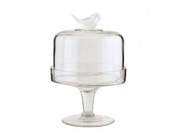 Tác s poklopem - dekor ptáček-pr.16*24 cm