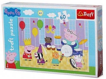 Puzzle Prasátko Peppa 60 dílků Na plese