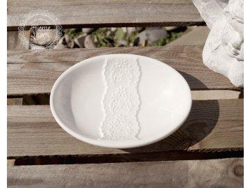 Seifenschale Flower creme weiß Keramik Nostalgie Landhaus Shabby Clayre