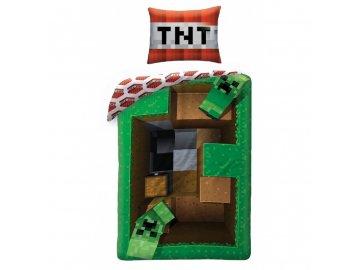 Povlečení Minecraft Creeper TNT 140x200, 70x90 cm