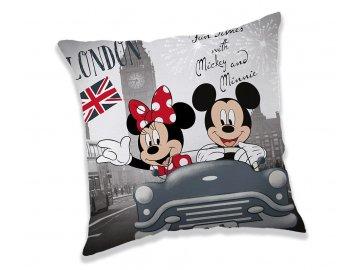 Polštářek Mickey a Minnie v Londýně 40x40 cm