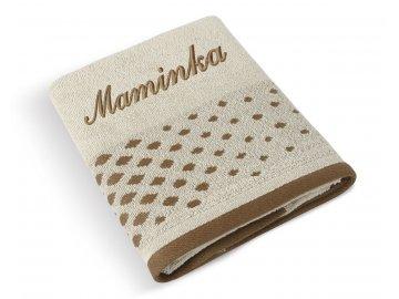 Froté ručník puntíky -  MAMINKA