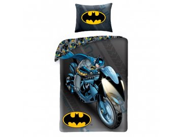 HALANTEX Povlečení Batman na motorce  Bavlna, 140/200, 70/90 cm