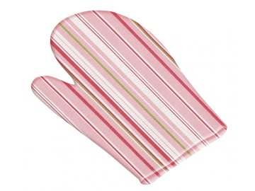 Kuchyňská chňapka - růžový proužek