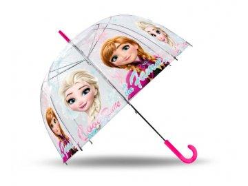 Průhledný deštník Ledové Království Anna a Elsa