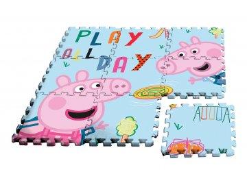 EUROSWAN Podlahové pěnové puzzle Peppa Pig  Eva, 9 dílu