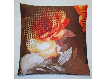 Povlak na polštářek bavlněný satén Royal orange 40x40 cm
