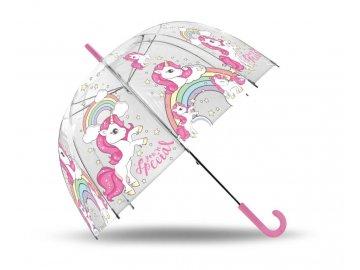 Průhledný deštník Jednorožec