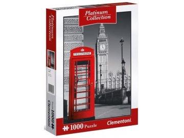 Metalické puzzle Londýnská telefonní budka 1000 dílků